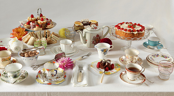 Specialists in vintage china hire for traditional afternoon tea parties